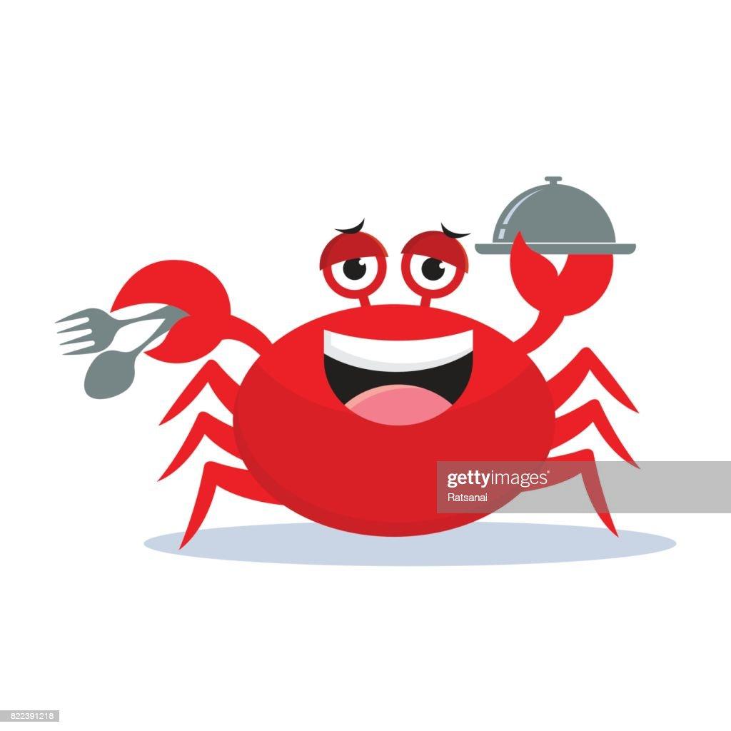crab cartoon : stock illustration