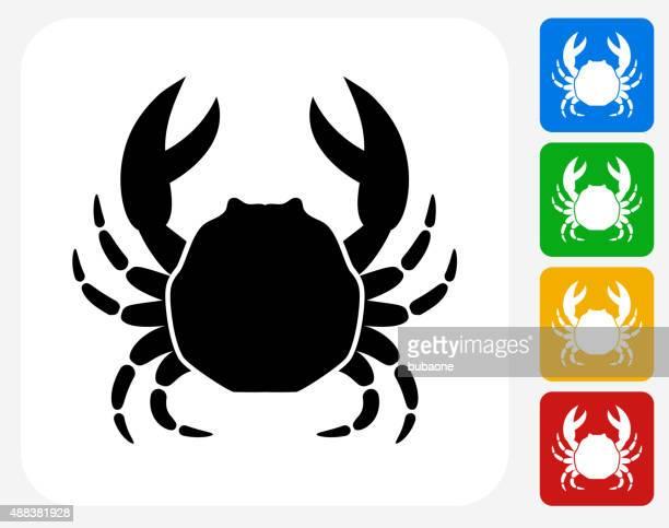 Crab Icon Flat Graphic Design