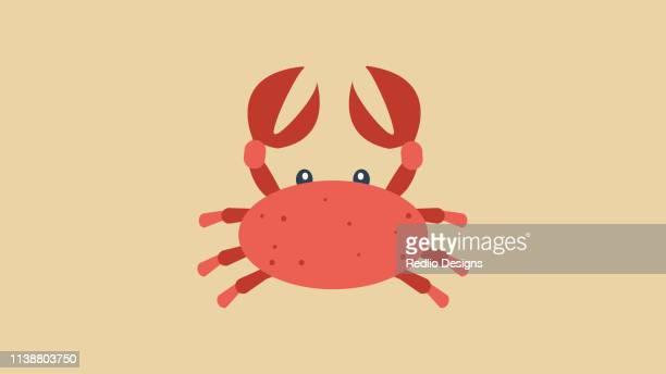 crab icon - blue crab stock illustrations