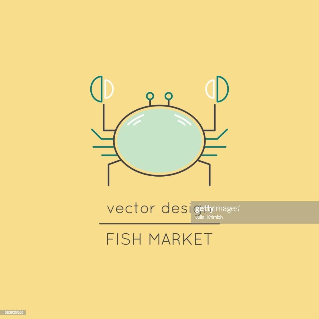 Crab line icon