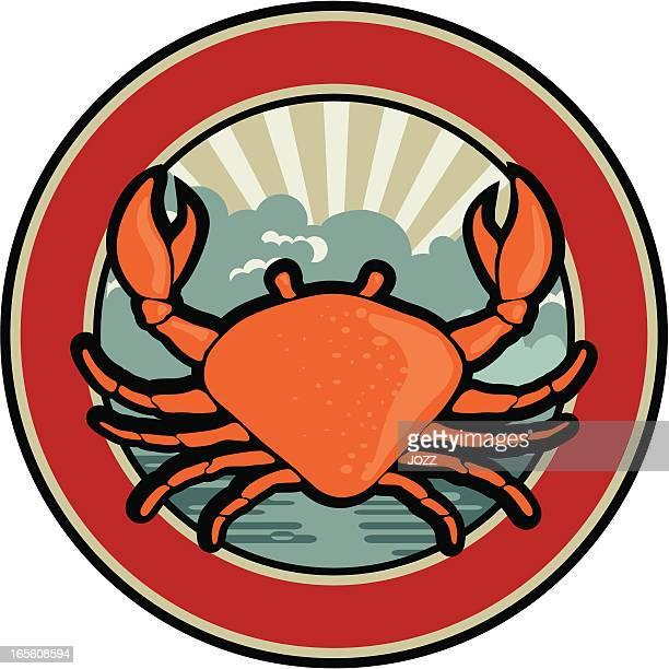 crab retro emblem