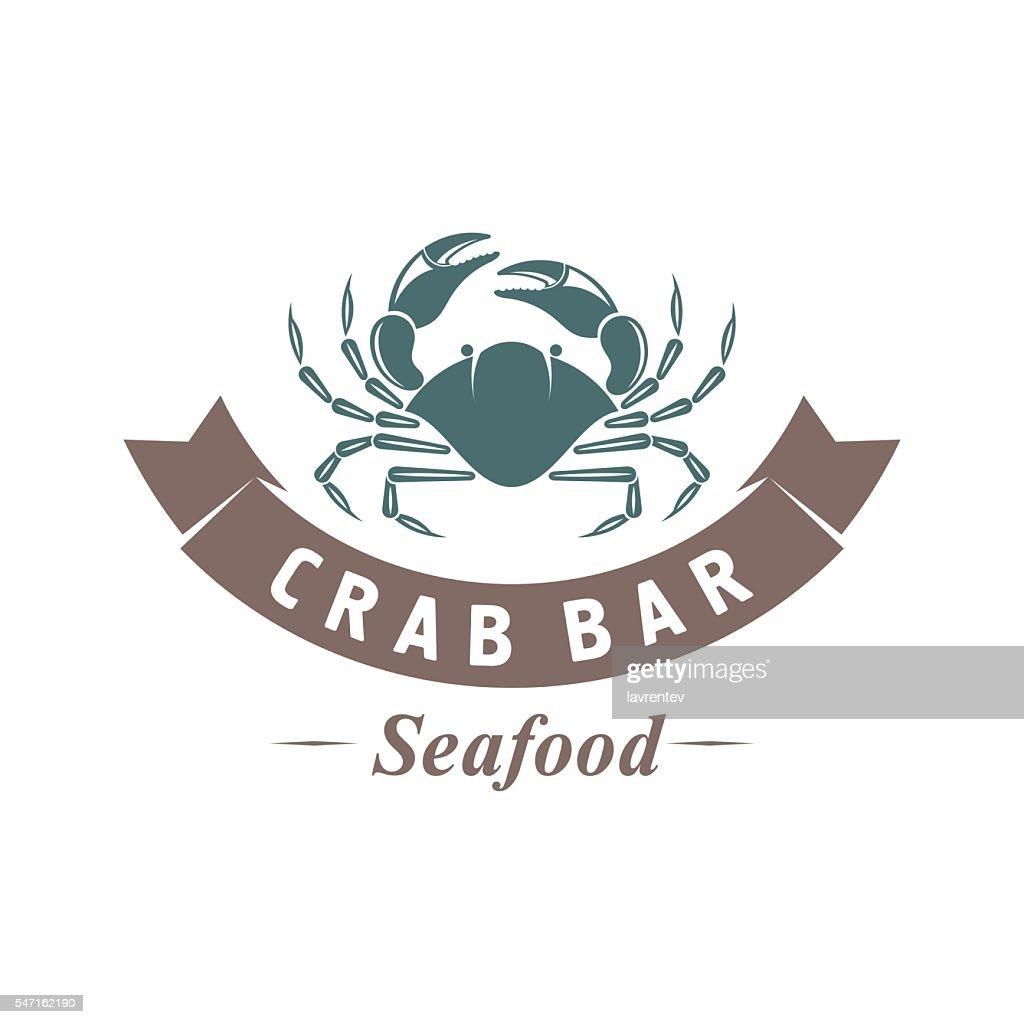 crab vector emblem