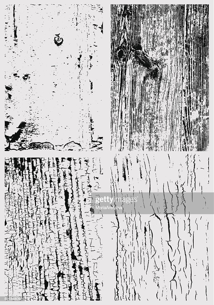 Cracked paint and wooden surface texture bundle
