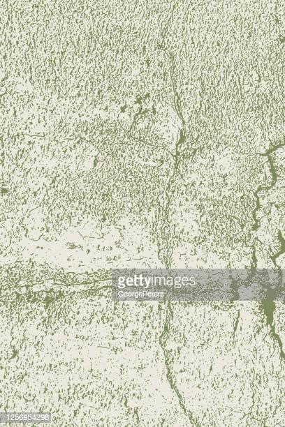 ひび割れ、風化コンクリート壁の背景 - カーキグリーン点のイラスト素材/クリップアート素材/マンガ素材/アイコン素材