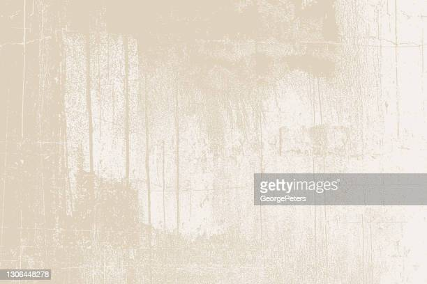 cracked, weathered painted wall background - beige stock illustrations