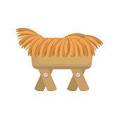 cradle of straw isolated icon