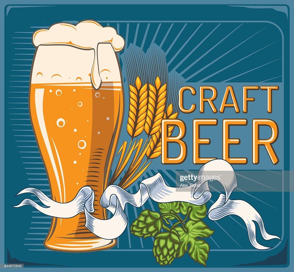 Craft beer decorative design