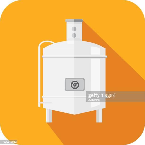Craft beer distiller still Flat Design themed Icon with shadow