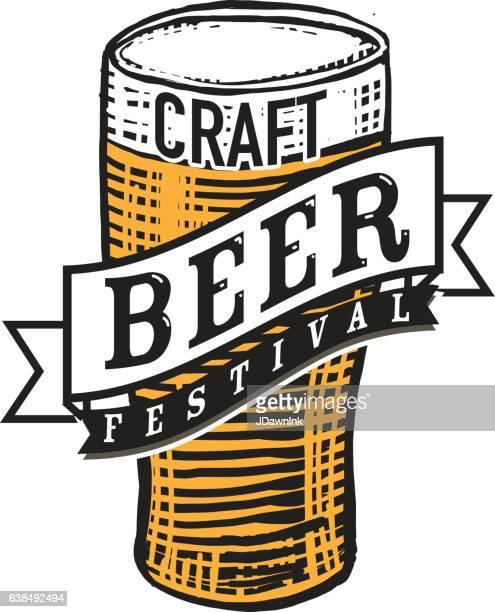 Craft beer Festival label design