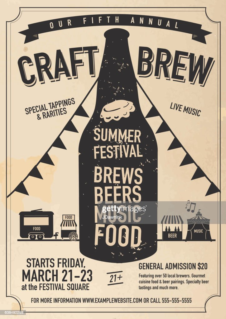 Craft Beer Festival Poster Design Template Vector Art Getty Images