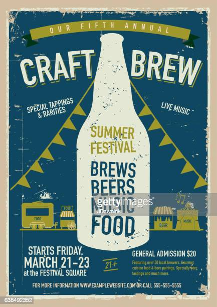 Craft beer Festival Poster design template