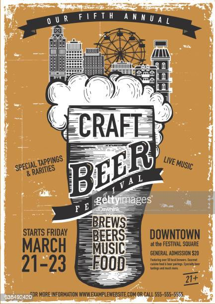 Craft beer Festival Poster design template