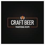 craft beer icon design background