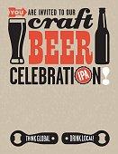 Craft Beer Vector Invitation