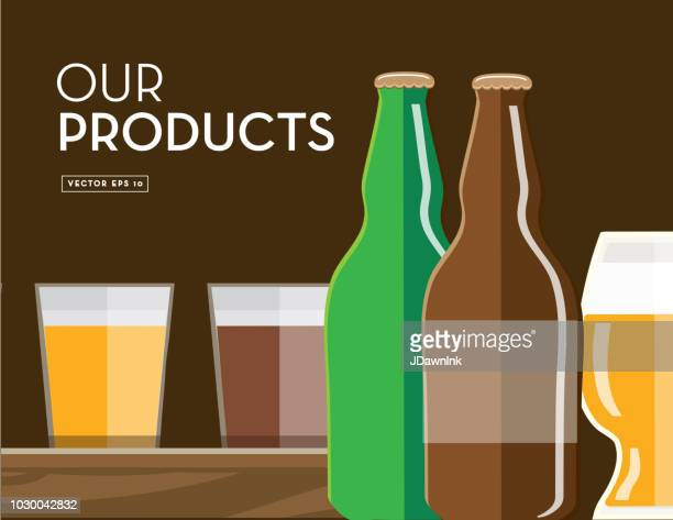 Craft brewery product profile banner design template with placement text