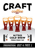 craft coffee promotion poster