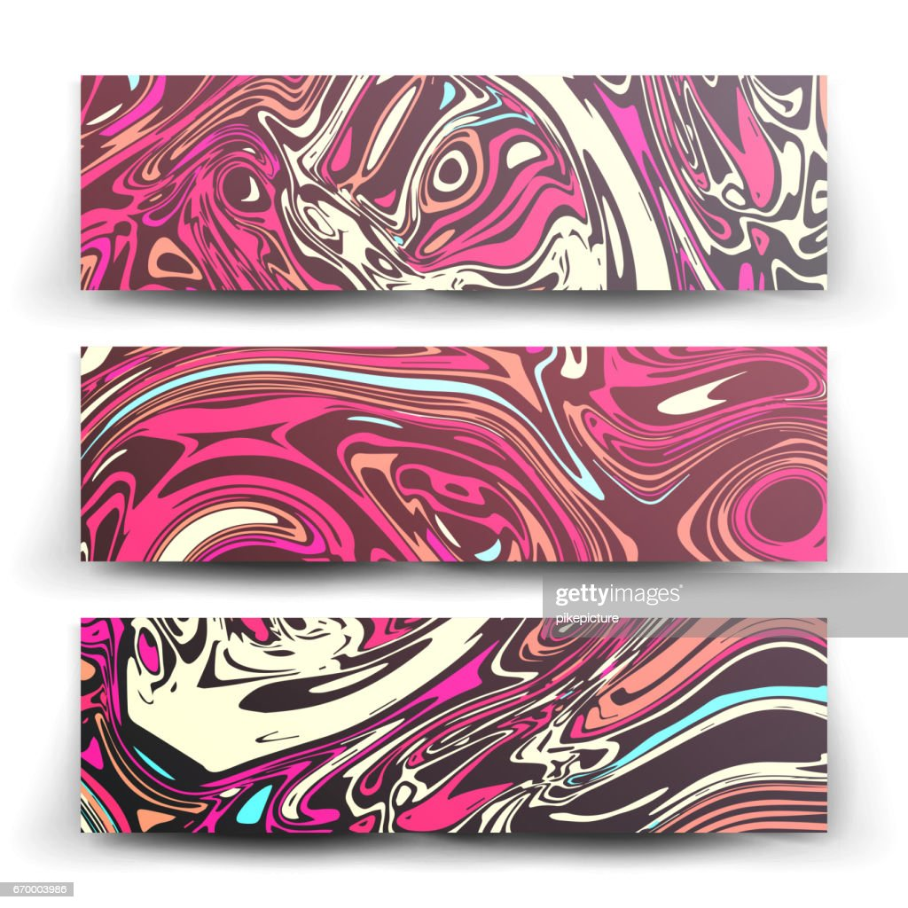 Craft Liquid Texture Vector. Abstract Colorful Background In Ebru Suminagashi Technique