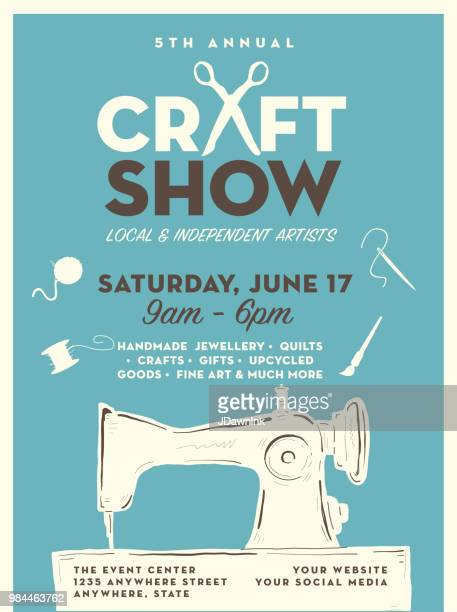 Craft show and sale poster advertisement design template