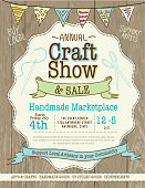 Craft show and sale poster design template