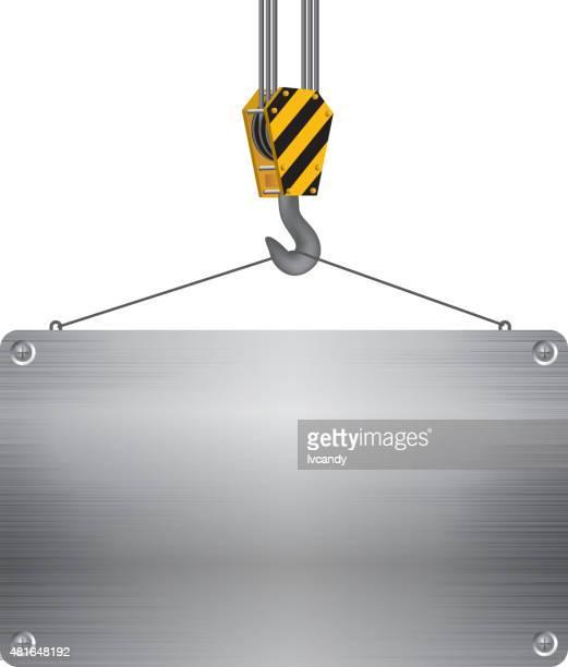 Crane Hakenverschluss aus Metall und -brett