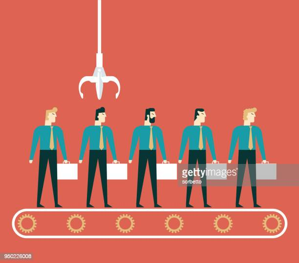 crane picking up businessman - claw stock illustrations, clip art, cartoons, & icons