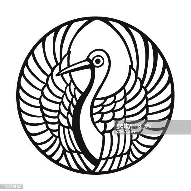 crane - crane bird stock illustrations