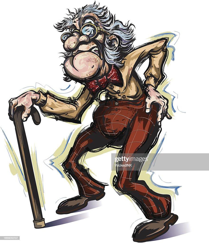 60 Top Grumpy Old Man Stock Illustrations, Clip art