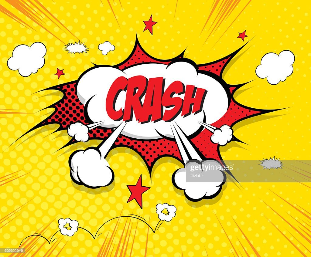Crash- comic speech bubble