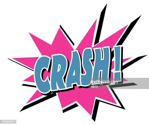 ilustrações de stock, clip art, desenhos animados e ícones de crash - acidente de carro