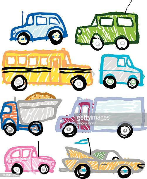 crayon cruisers - commuter stock illustrations, clip art, cartoons, & icons