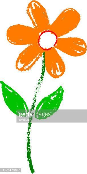 クレヨンの花 - ジャスミン点のイラスト素材/クリップアート素材/マンガ素材/アイコン素材