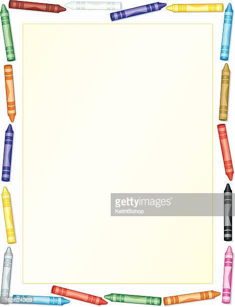 Crayon Frame Background - Education Writing