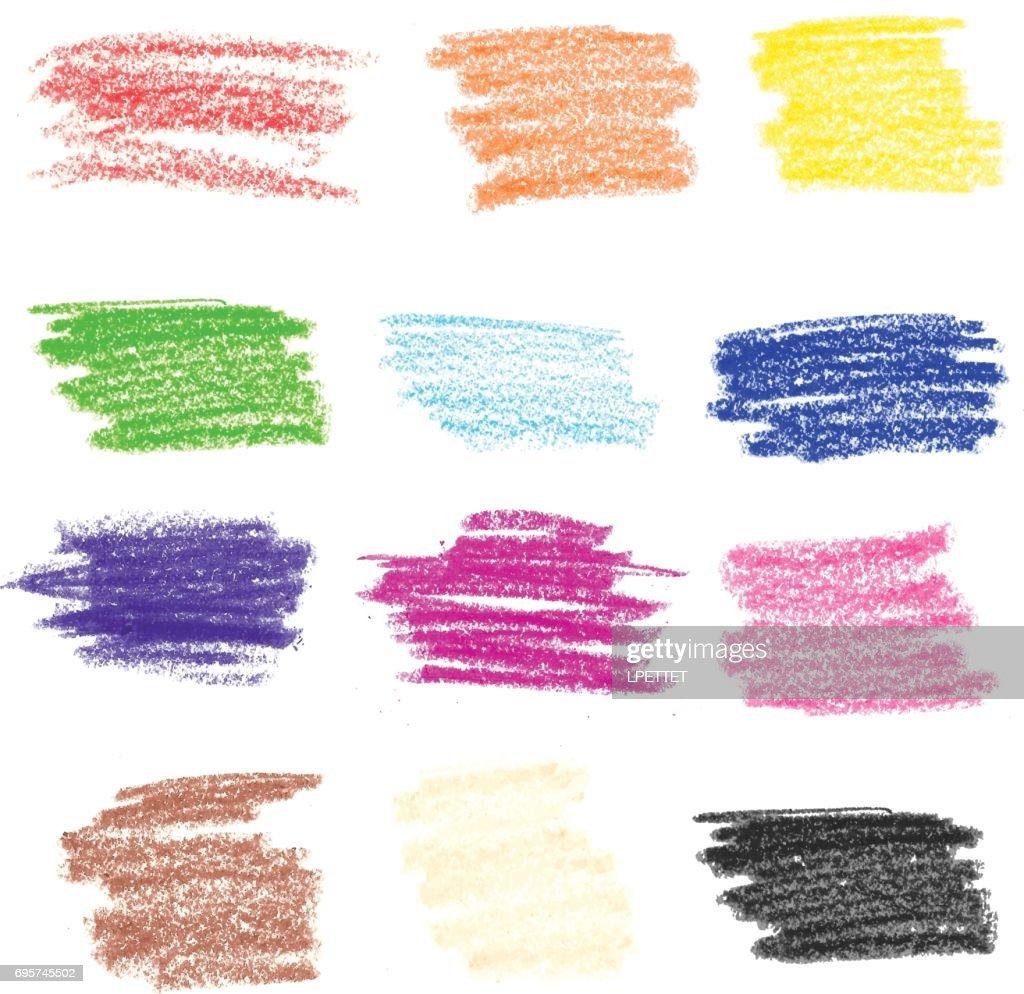 Crayon Strokes - Illustration