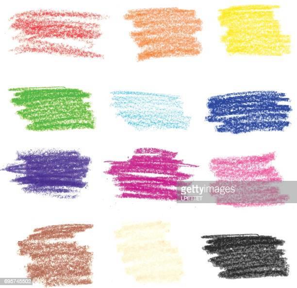 crayon strokes - illustration - crayon stock illustrations