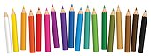 Crayons Colored Short Pencils