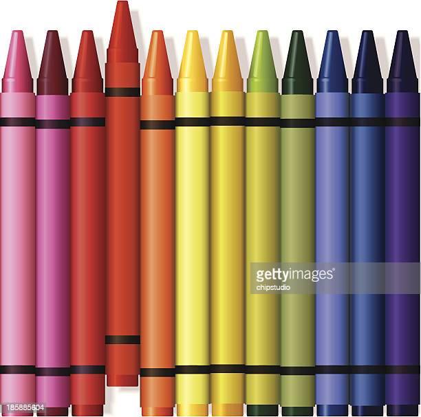 crayons illustration - crayon stock illustrations