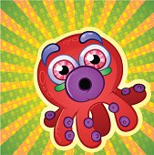 Crazy Colored Octopus
