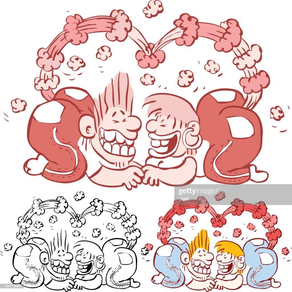 Crazy Couple : stock illustration