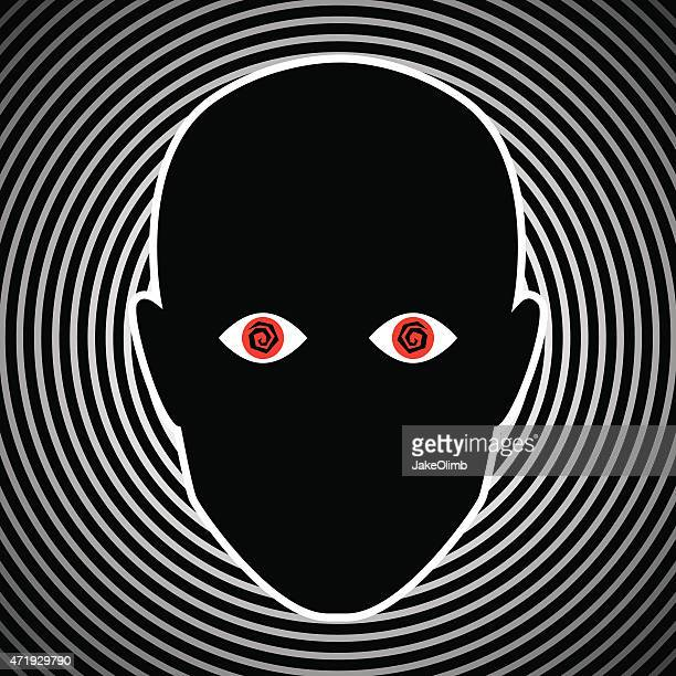 crazy eyes face - hysteria stock illustrations