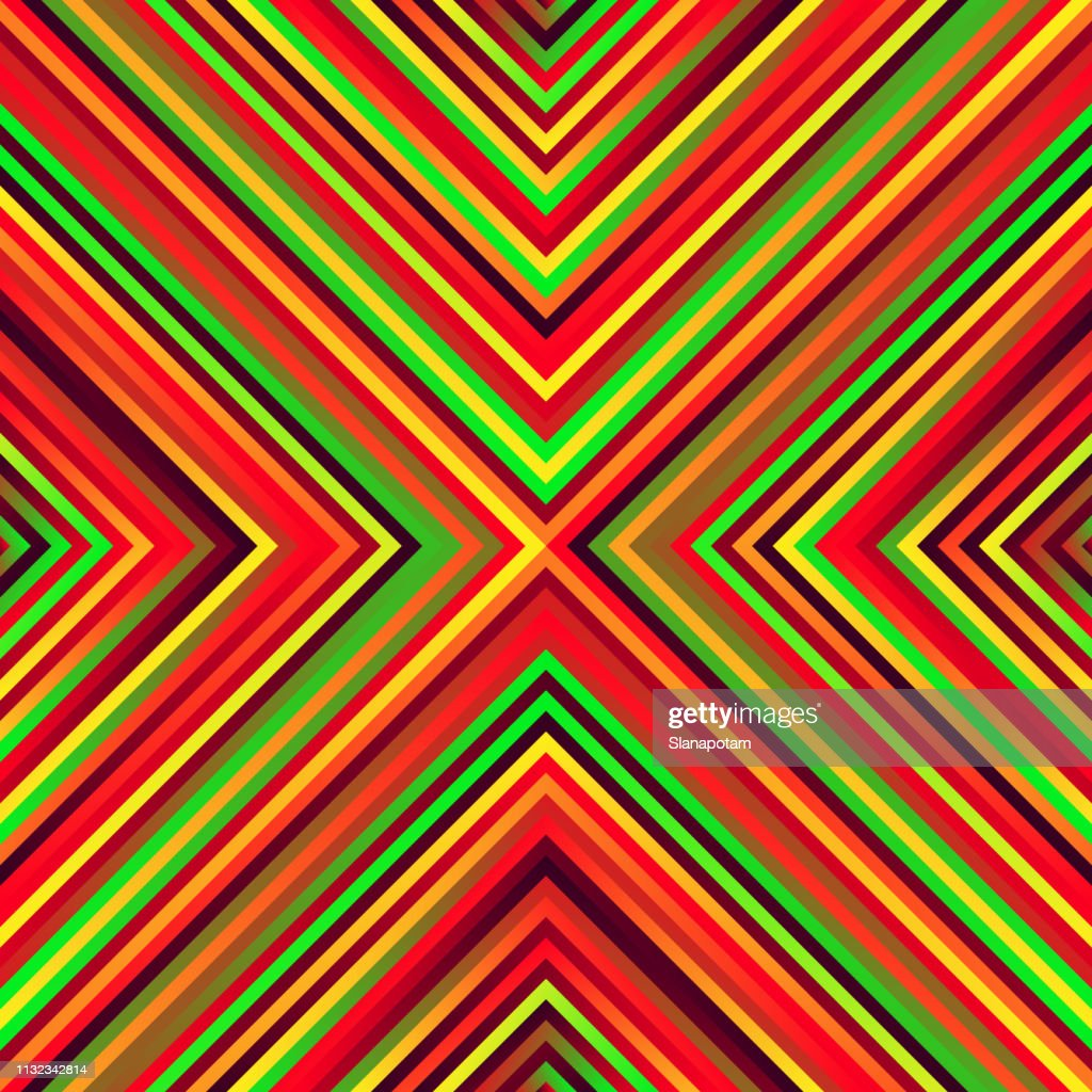 Crazy squares - bright geometric pattern with bold neon colors.