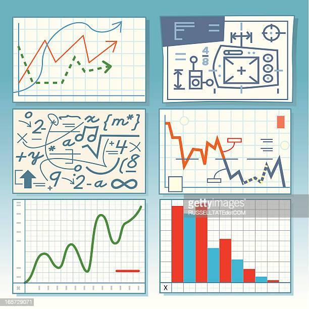 crazygraphs - finanzen und wirtschaft stock illustrations