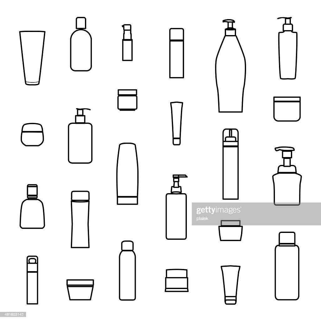 cream bottle line icon ,vector