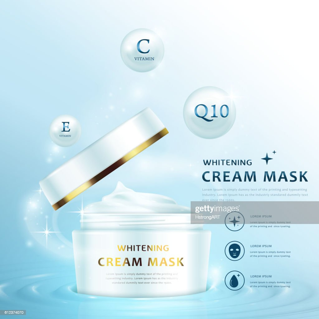 Cream mask ad template
