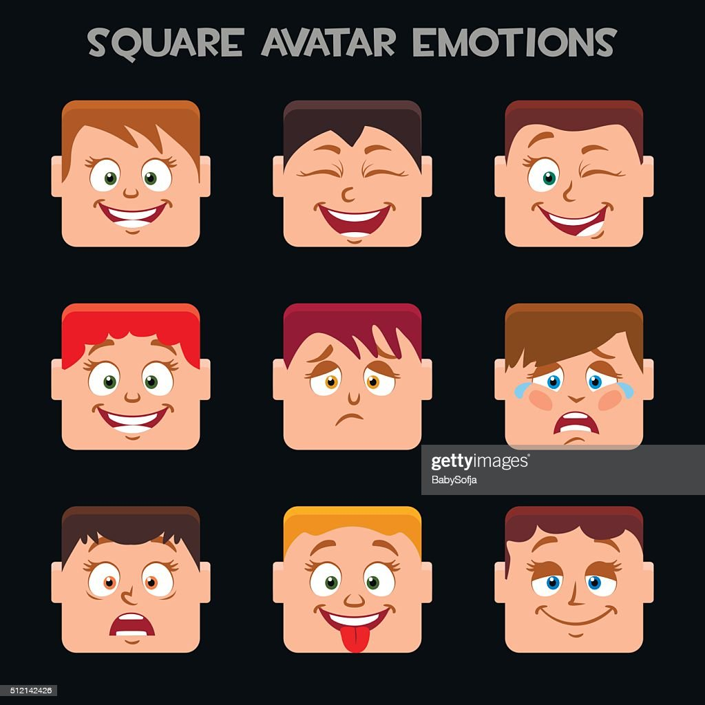 create a square avatar emotions