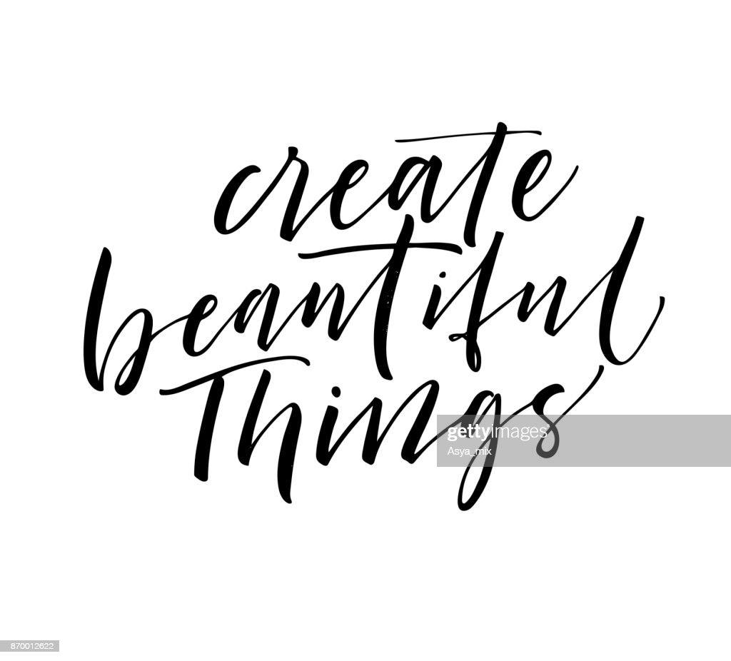 Create beautiful things card.