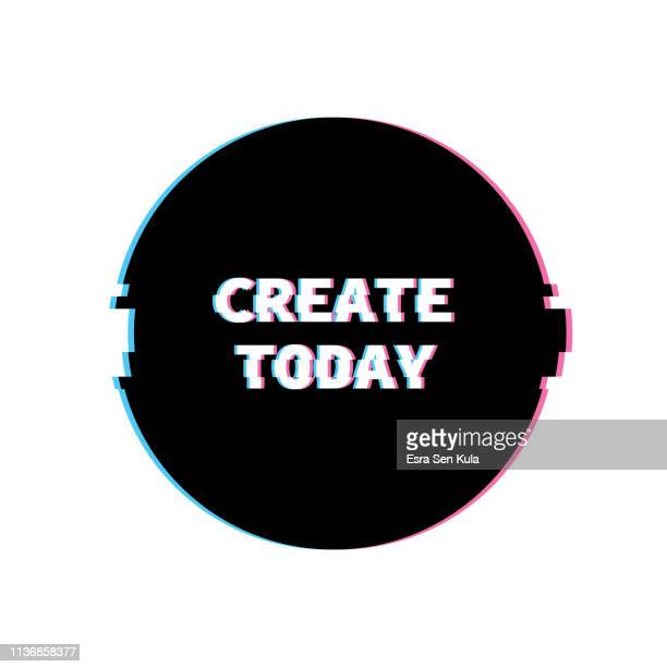 Create Today Banner with Glitch Noise Retro Effect