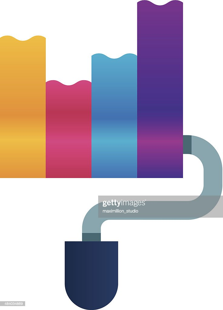 Creating creativity colorful logo icon bar chart diagram : Stock Illustration