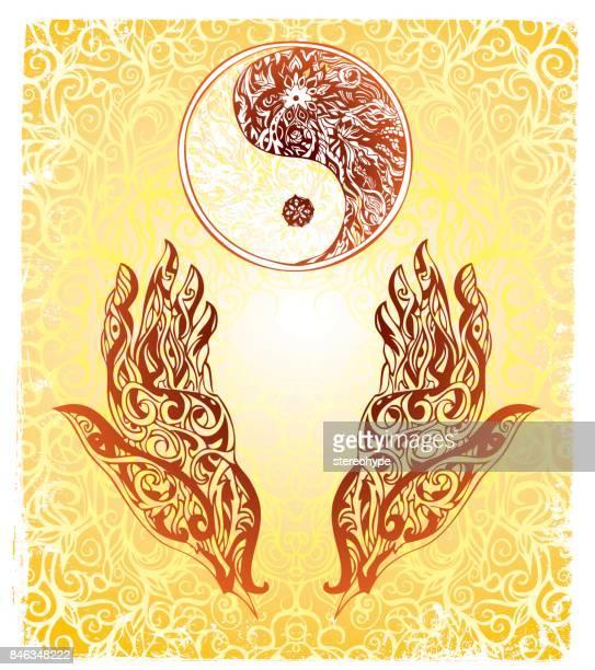 身体の調和を整える - 漢方薬点のイラスト素材/クリップアート素材/マンガ素材/アイコン素材