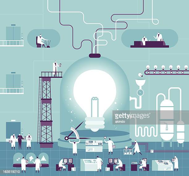 creating idea - technology stock illustrations, clip art, cartoons, & icons