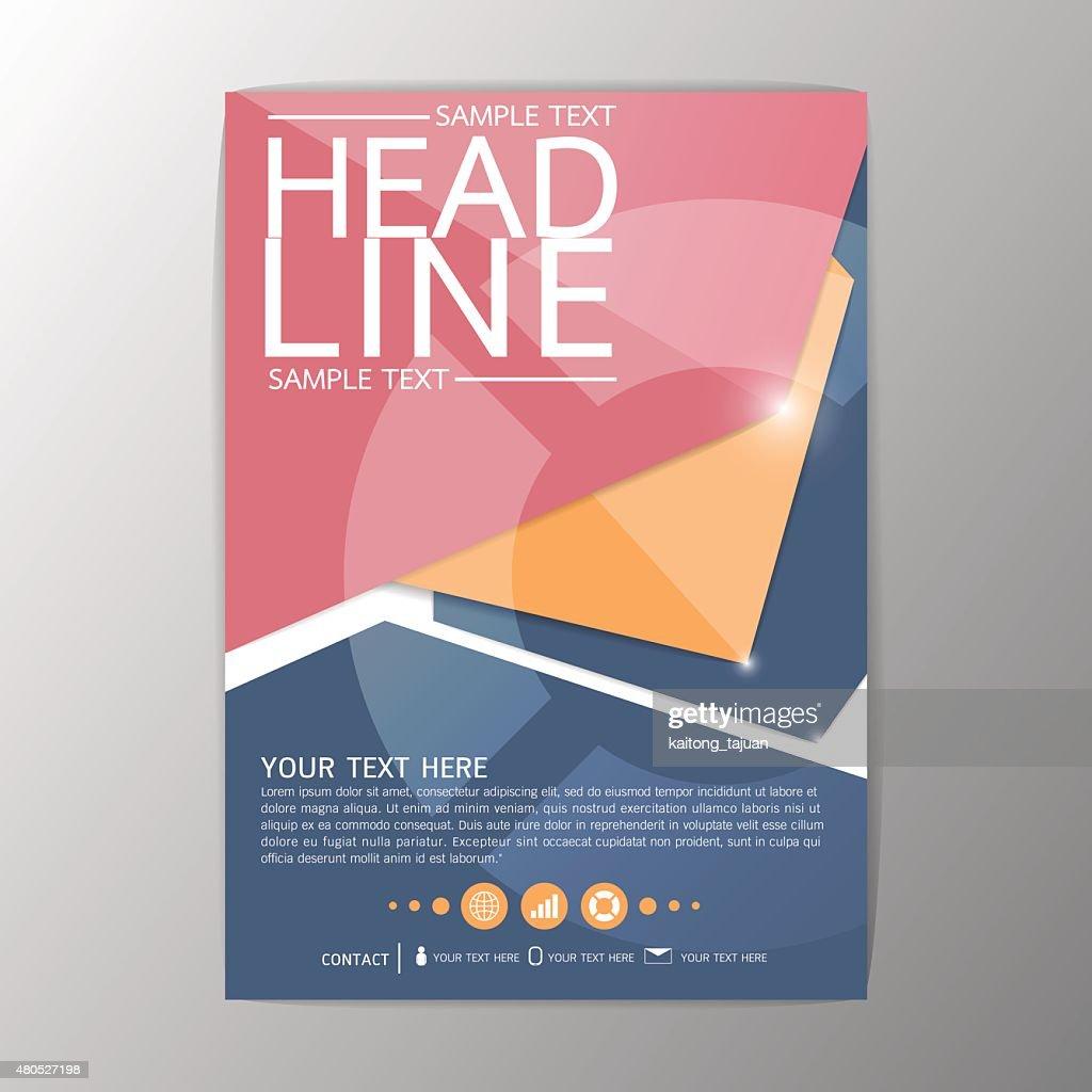 A4 Creative Abstract Background design Geometric, Brochure Template Flyer, Vector : Vector Art